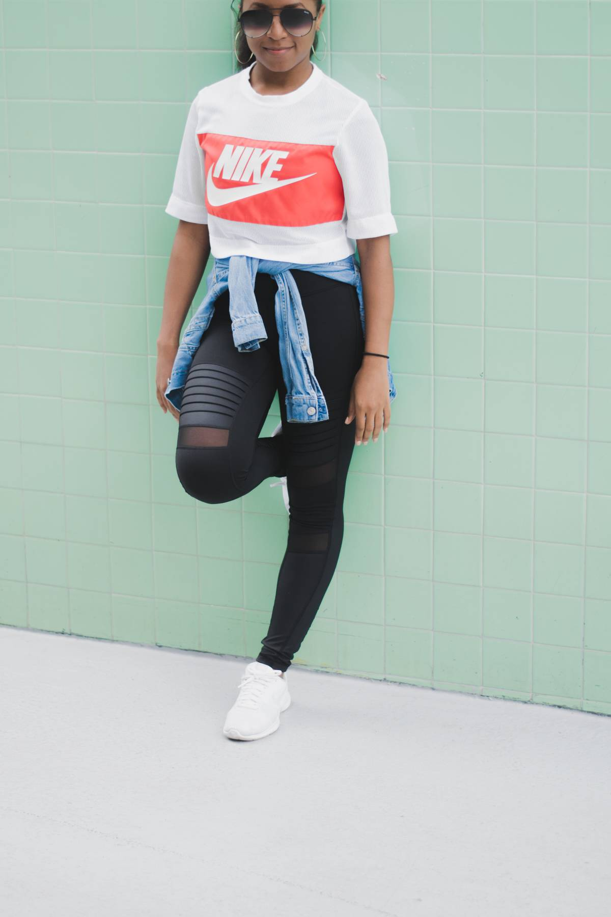 Travel Style Nike Crop Airport Outfit,9