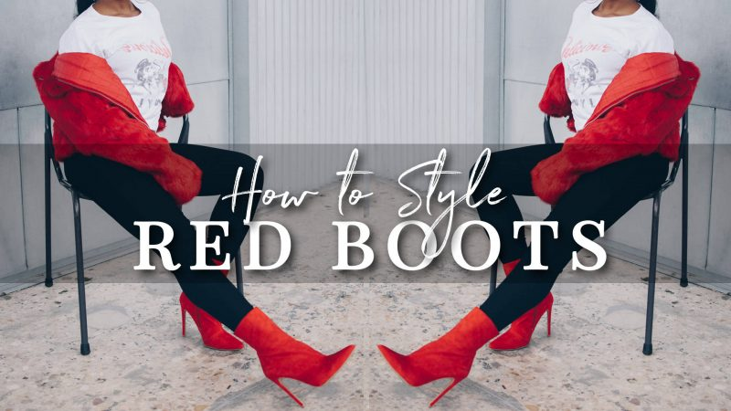 How to Style Red Boots | 4 Fall Outfit Ideas