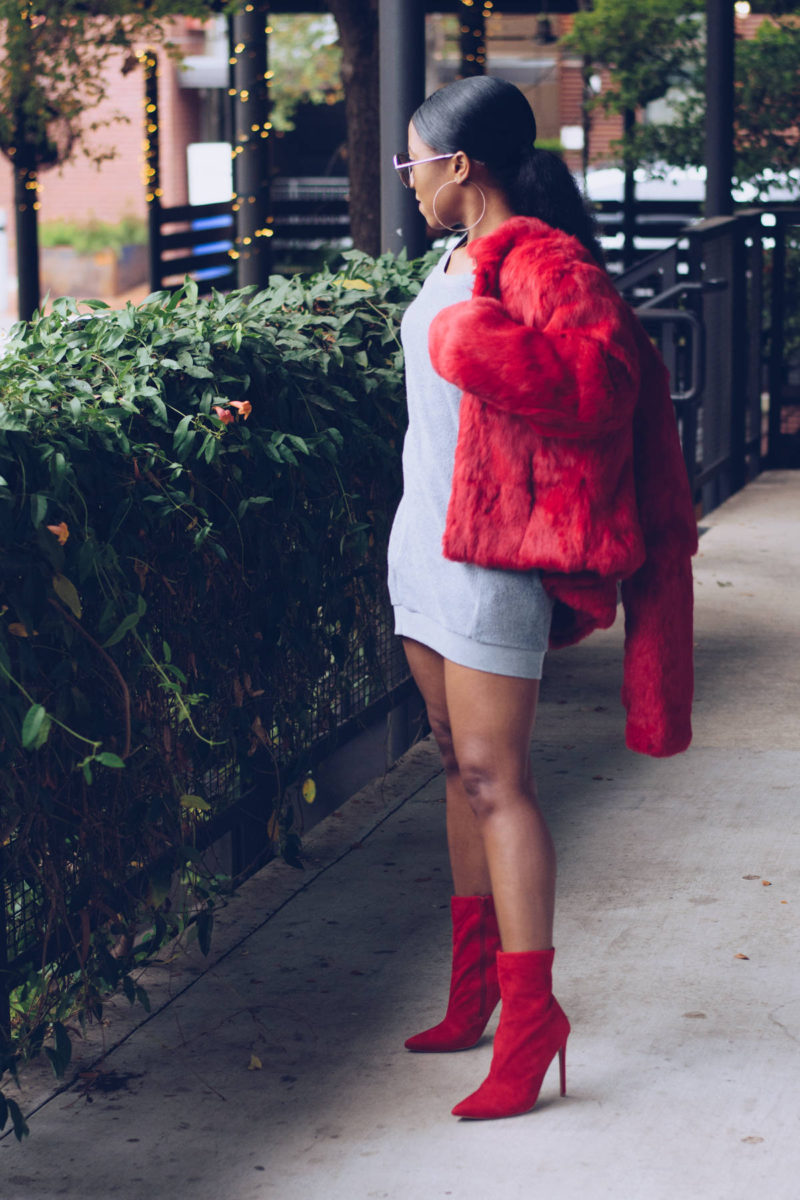 The Sweatshirt Dress | Styling Grey & Red for Fall | Venti
