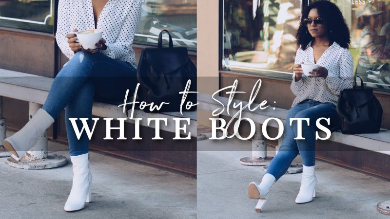How to Style White Boots | Fall Outfit Ideas