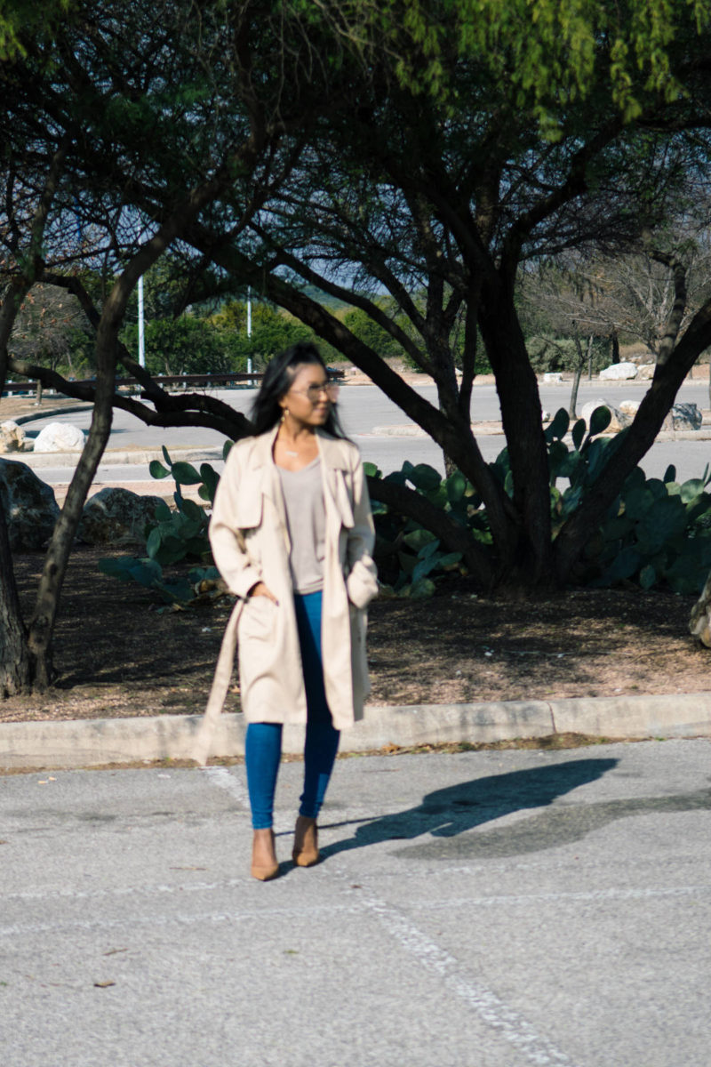 style trench coat outift