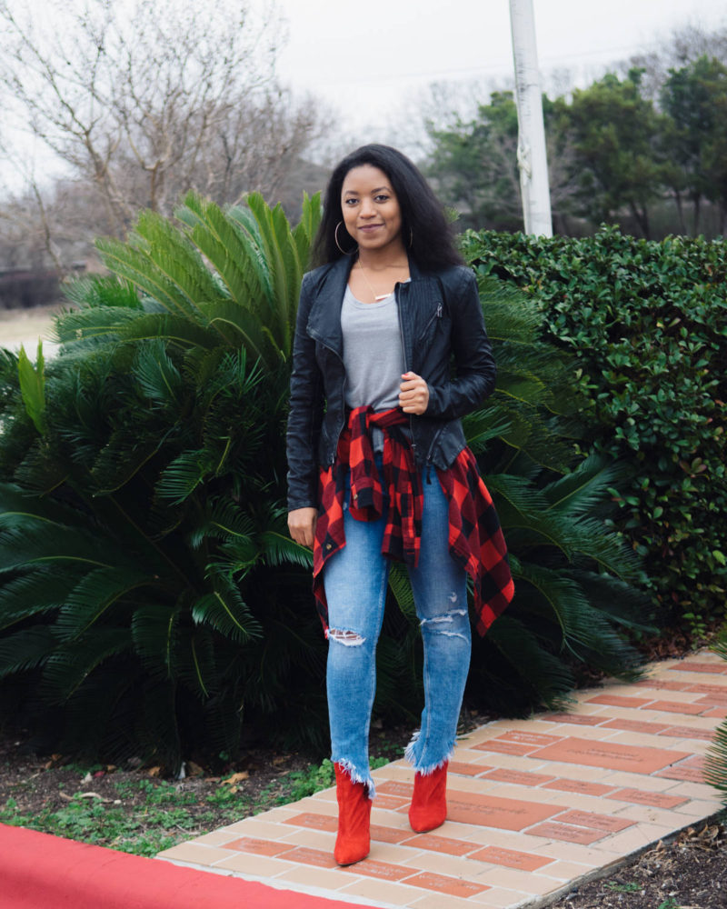 how to style red flannel