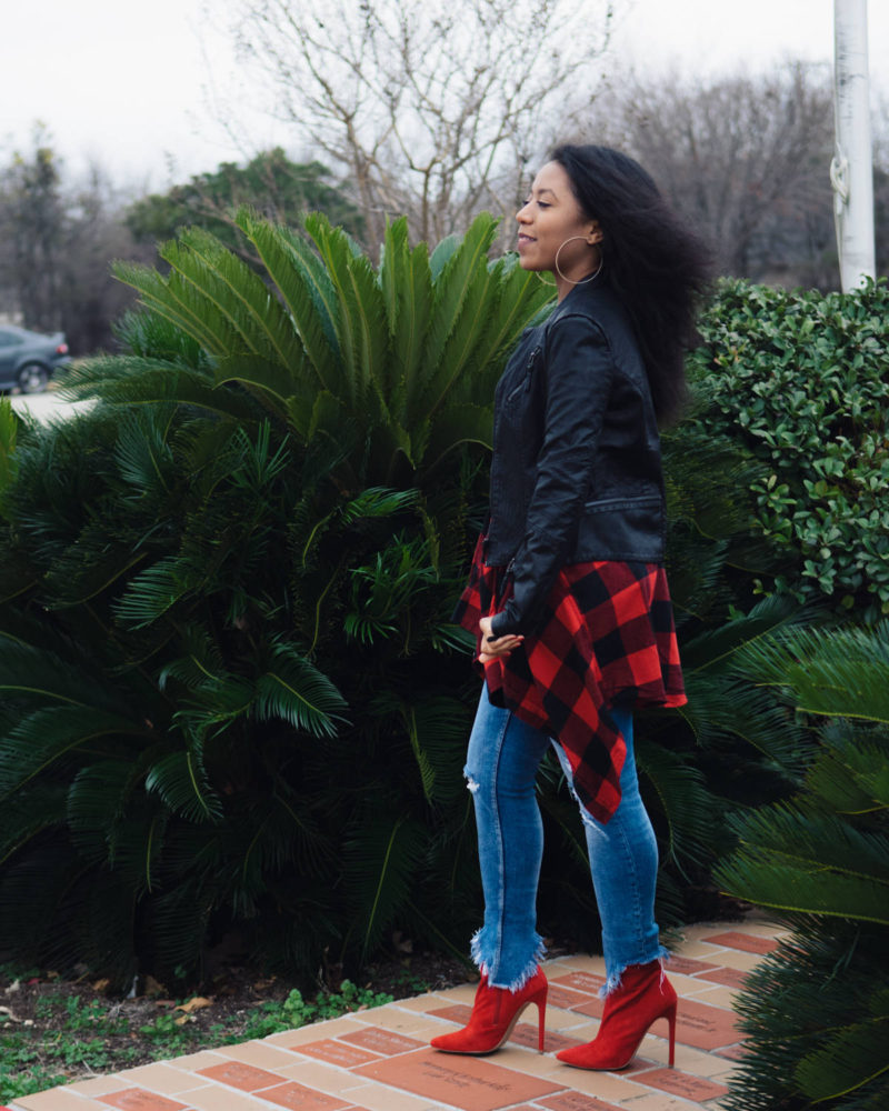 styling red flannel outfit ideas