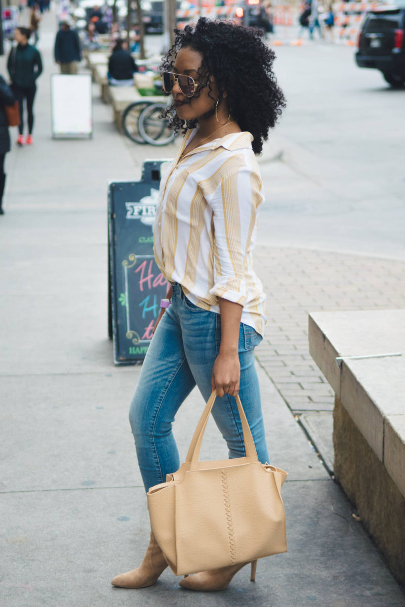 the yellow striped shirt and what i wore to sxsw