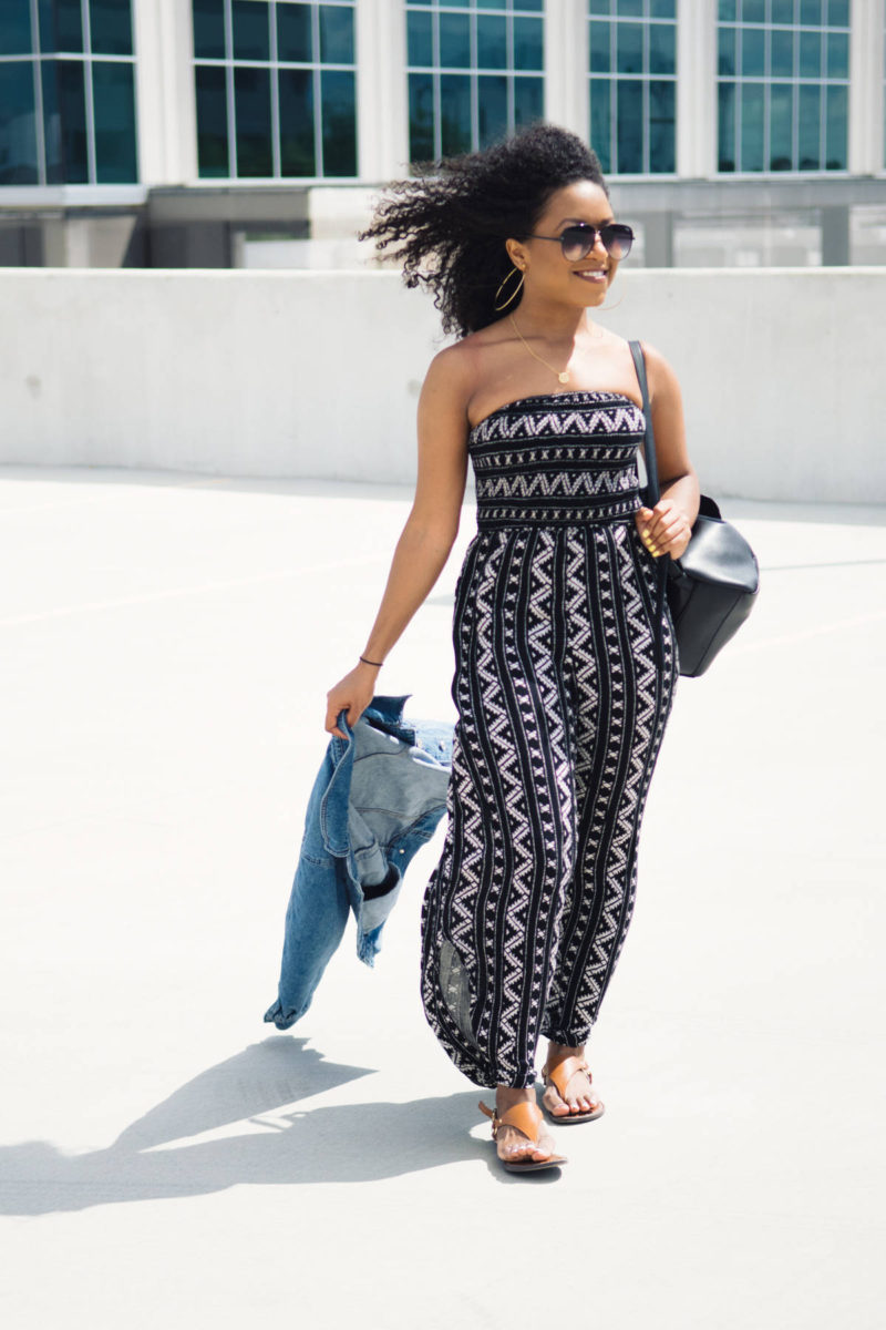 Urban Outfitters Smocked Jumpsuit