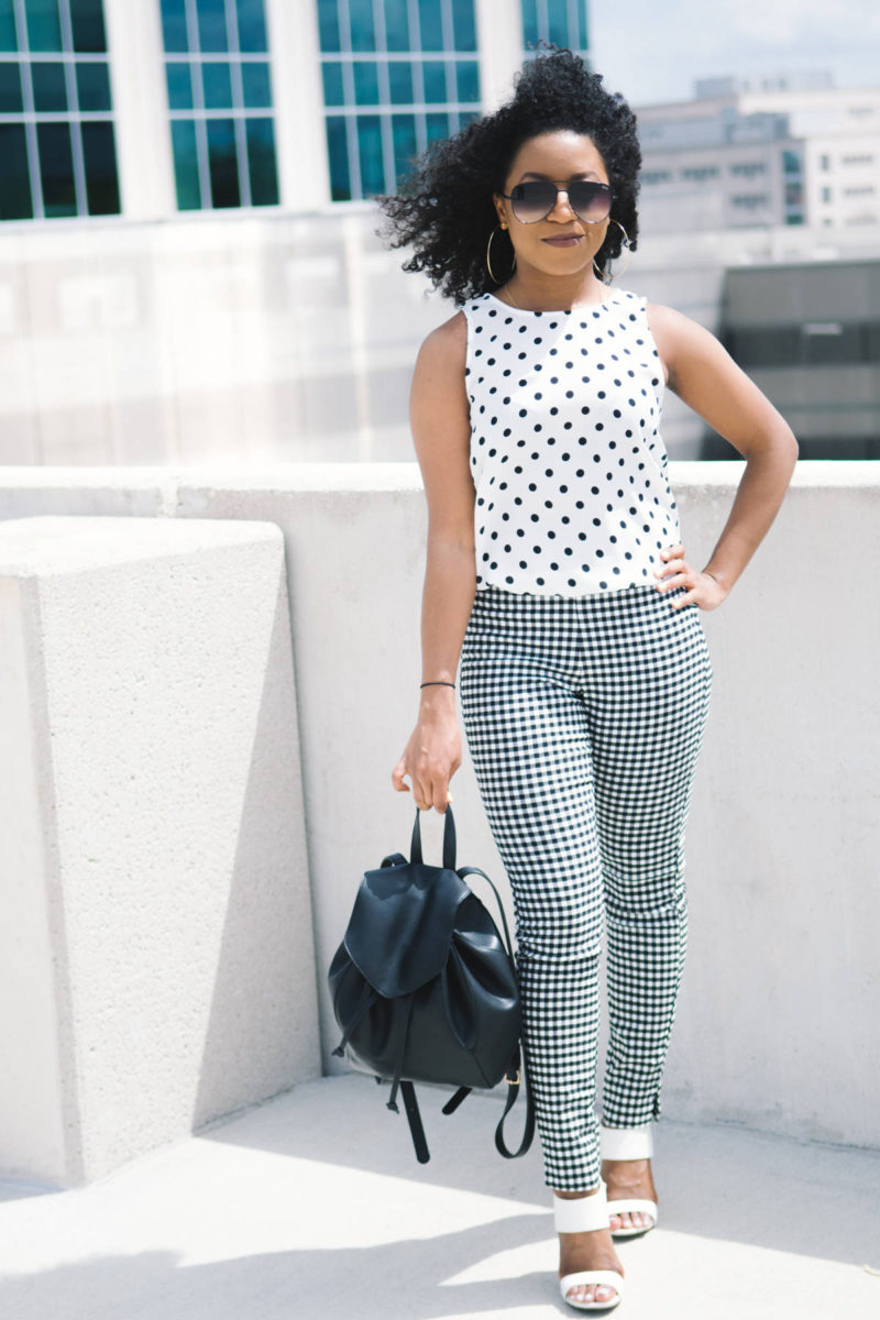 polka dots office workwear outfit