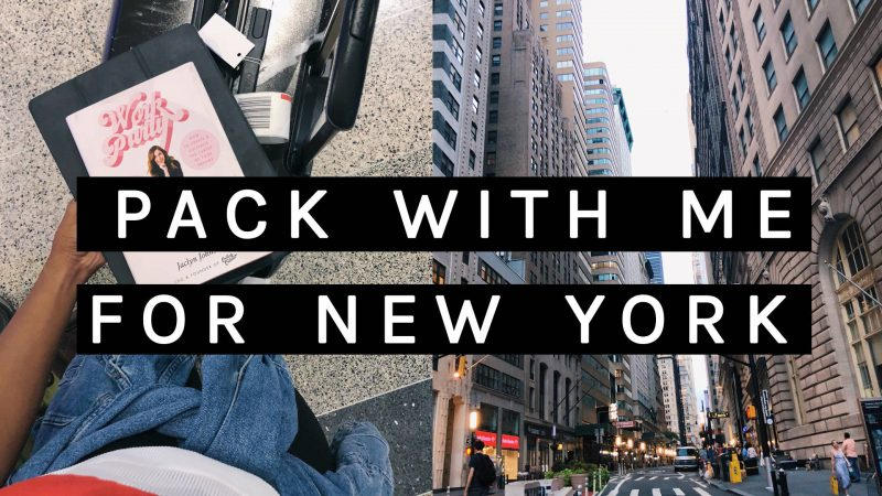 Vacation Prep | How I Pack for New York