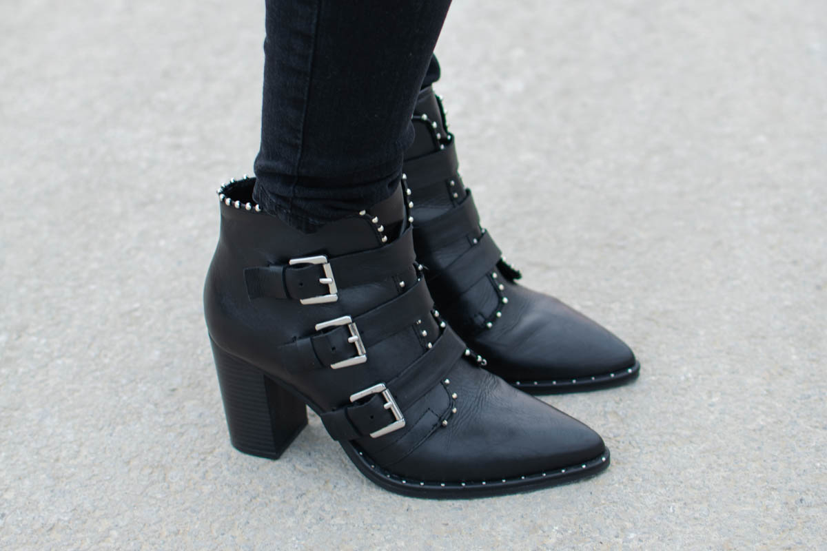 steve madden humble black booties