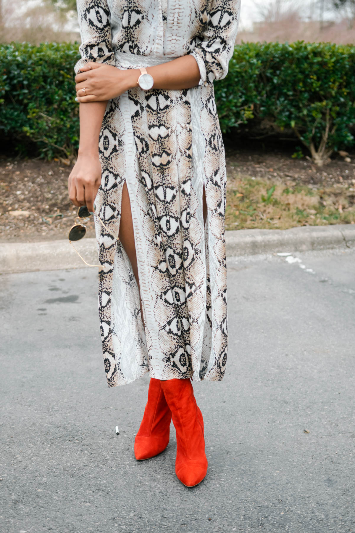 styling red boots