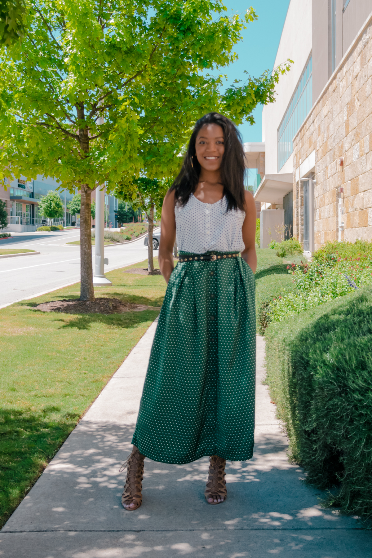 how to style long skirts for petite girls