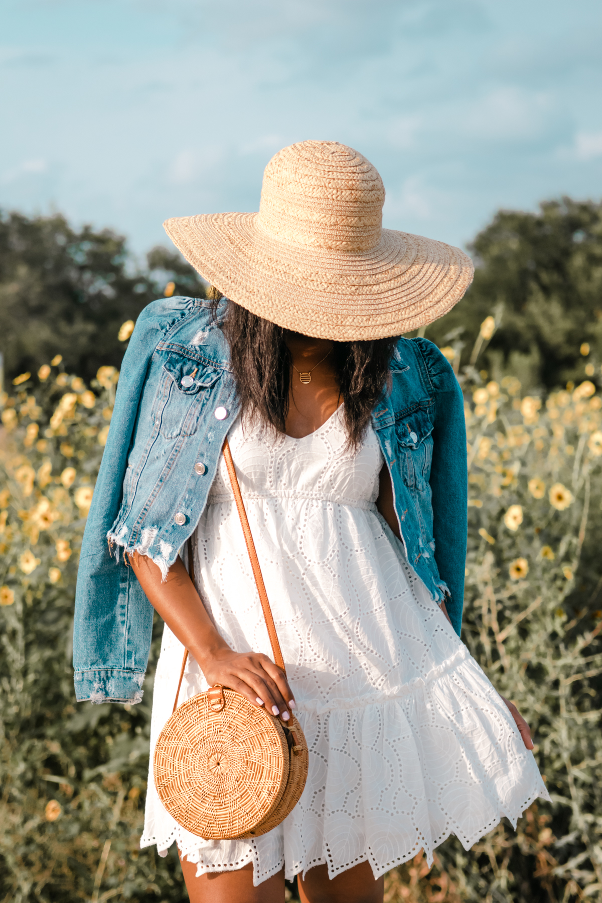 styling denim jacket with dresses