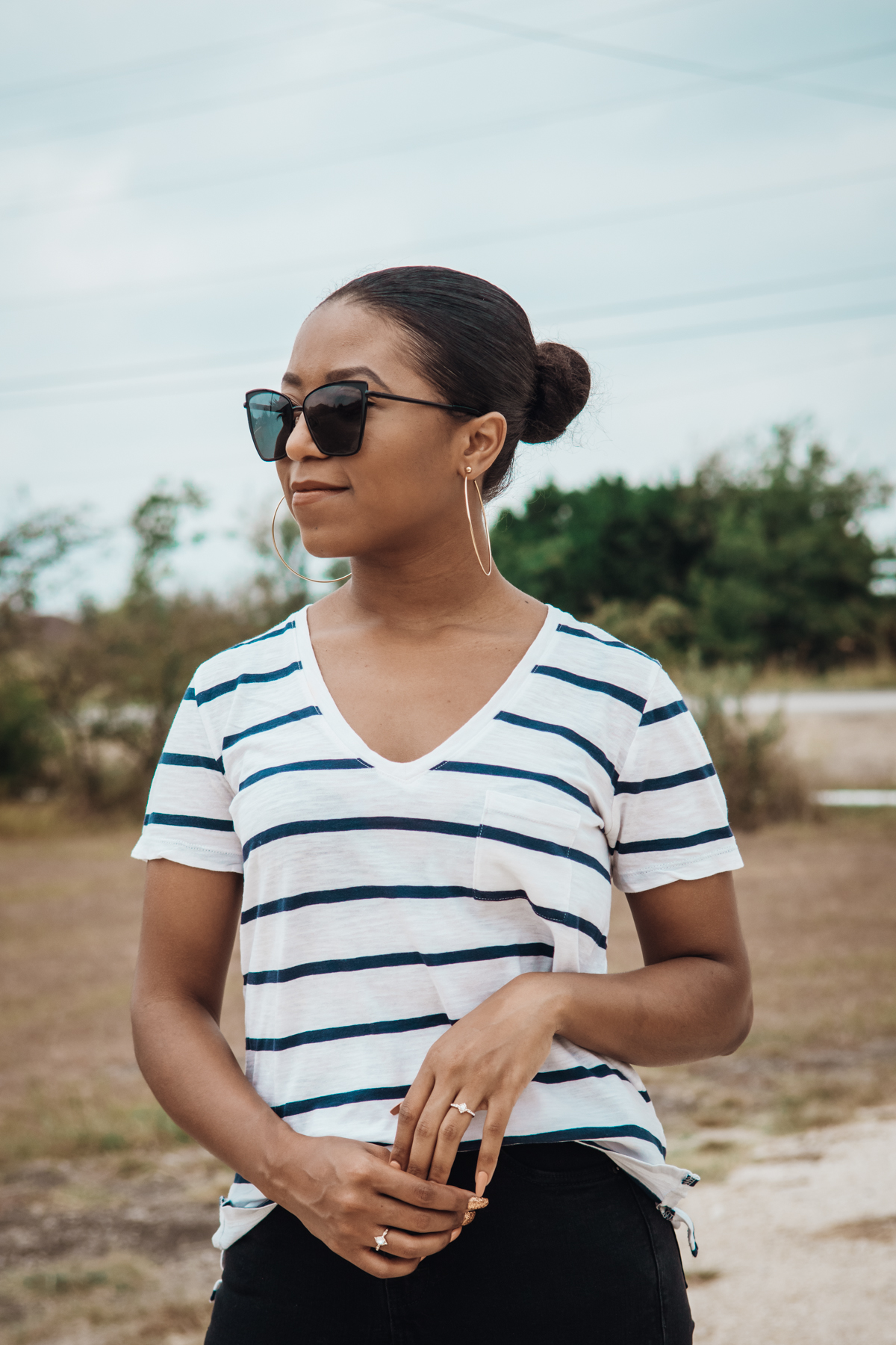styling the striped tee