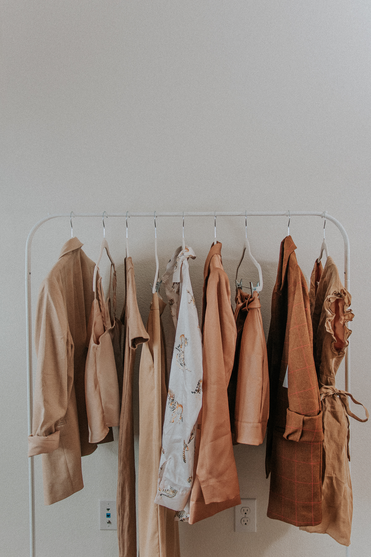 Clothing rack aesthetic ideas